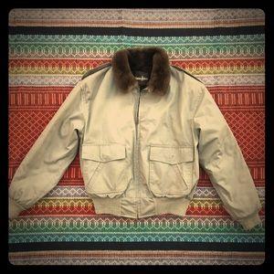 Vintage Neiman-Marcus sm/m Fur Bomber Jacket
